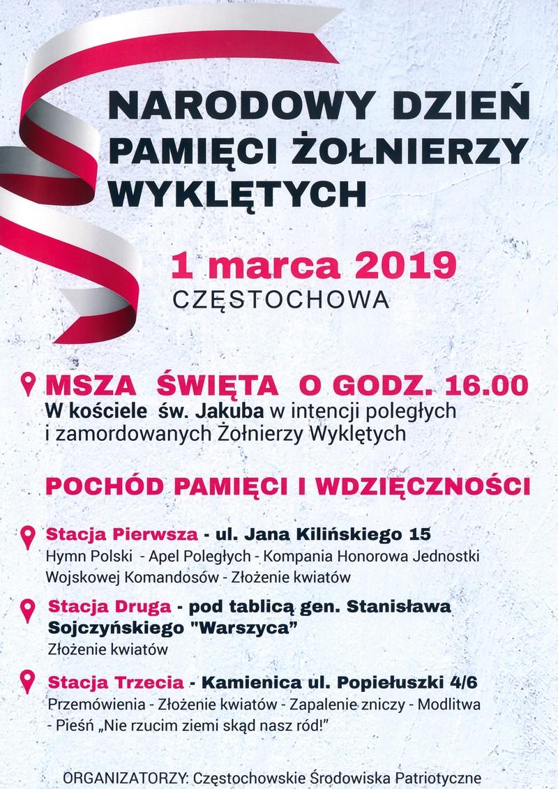 Region Częstochowski Nszz Solidarność 1 Marca Dzień Pamięci